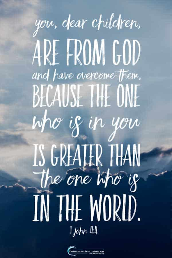 Greater is He who is in you than he who is in the world. 1 John 4:4 #BibleVerse #scripture #faith