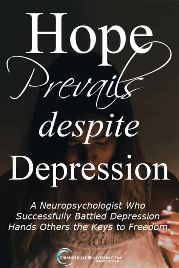 A Neuropsychologist who successfully battled depression hands others the keys to freedom. #depression #HopePrevails #HopePrevailsBibleStudy #mentalhealth