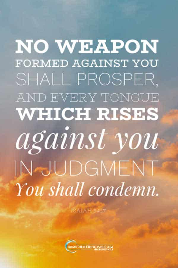 No weapon formed against you shall prosper Isaiah 54:17 #BibleVerse #scripture #faith