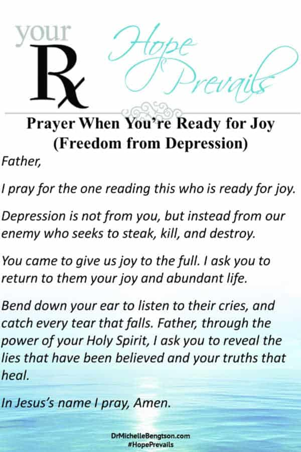 A prayer when you're ready for joy. #prayer #joy #depression #mentalhealth
