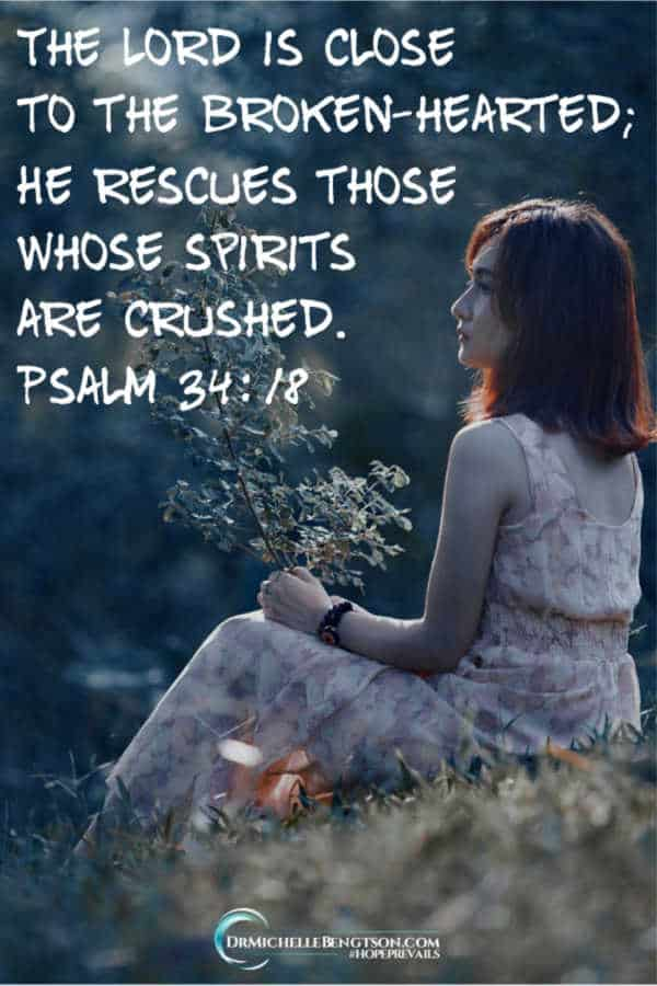 """The LORD is close to the brokenhearted; he rescues those whose spirits are crushed"" (Psalm 34:18 NLT). #BibleVerse #scripture #faith"