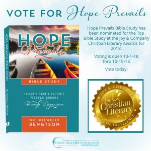 Vote for Hope Prevails Bible Study for top Bible Study at 2018 Christian Literary Awards