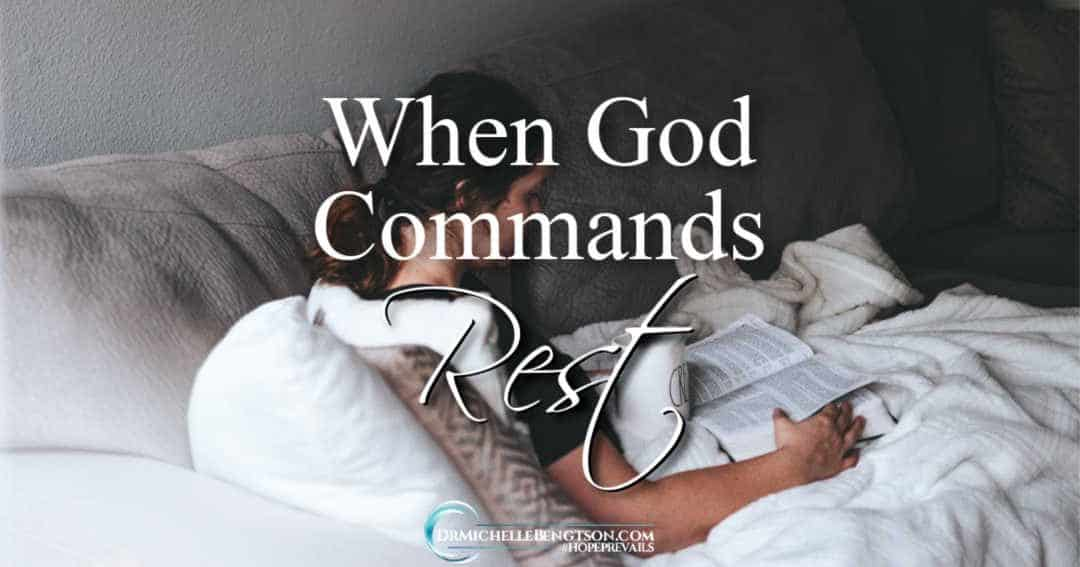 God commands rest. For me, rest is harder than three projects with fire cracker deadlines.