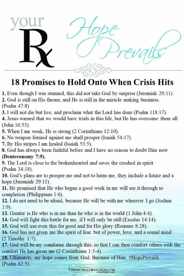 When crisis hit, I knew I could cave to worry, fear, and anxiety, or find comfort in my long-standing beliefs. #Bible #faith #encouragement