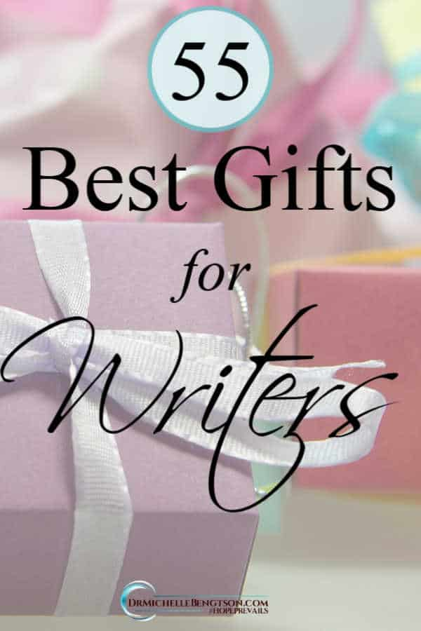 We've compiled this list of 55 of the best gifts for writers and authors. Happy shopping! #writer #author #gifts