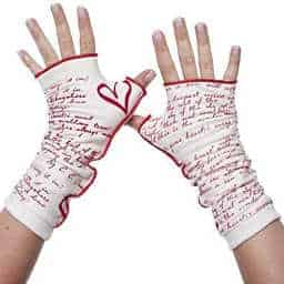 Fingerless gloves are perfect for the writer on your shopping list.