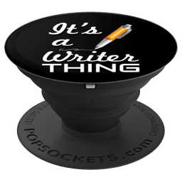 Pop socket grip and stand for phones and tables for the writer on your shopping list.