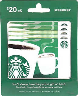 Writers are fueled by caffeine so Starbucks' gift cards make the perfect gift.