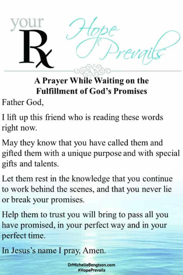 A Prayer While Waiting on the Fulfillment of God's Promises #prayer #encouragement