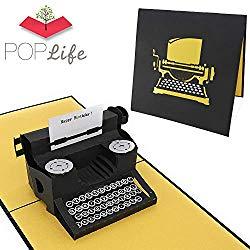 Best card for writers - PopLife typewriter