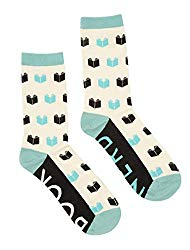 Out of Print Literary Book Themed Unisex Socks