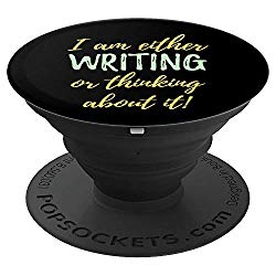 Popsockets grip and stand for writers