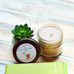 Oatmeal milk and honey soy jar candle
