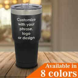 Personalized 30 oz tumbler with straw and lid