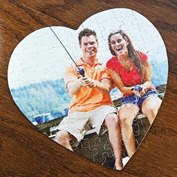 Personalized heart shaped jigsaw puzzle