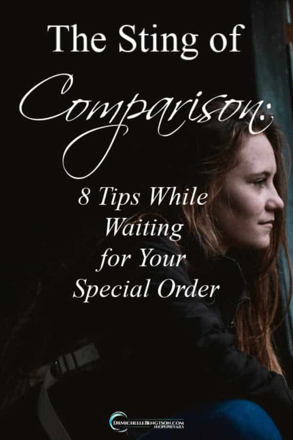 Are you waiting on an answered prayer? The fulfillment of your destiny? Resist the urge the entertain the sting of comparison while you wait. #hope #encouragement #inspiration