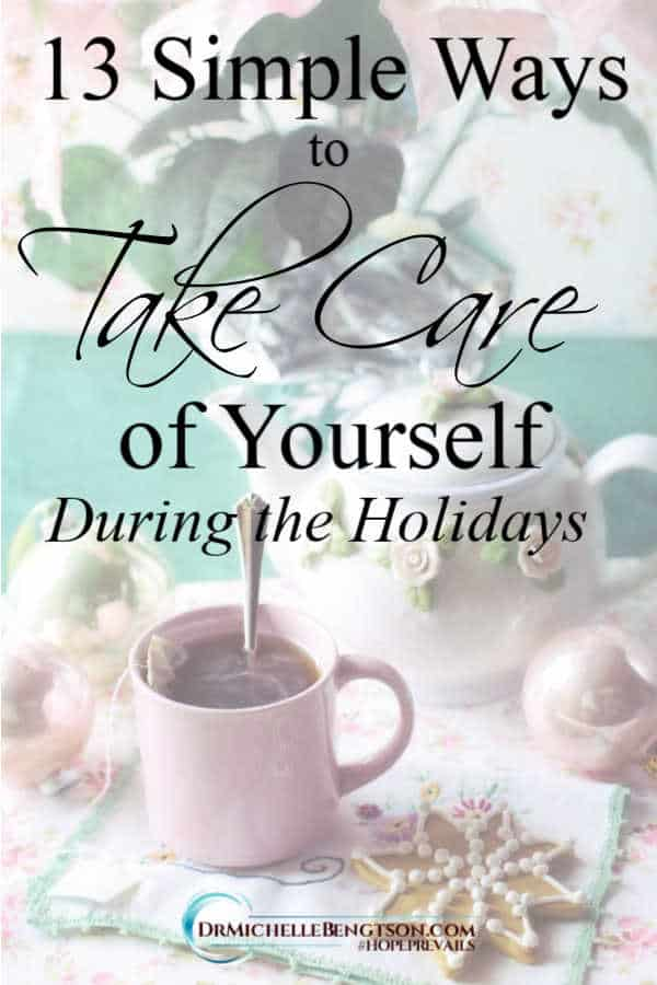 Avoid burnout! Make self-care a priority this Christmas with these 13 tips and simple ways to take care of yourself during the holidays. #Christmas #selfcare #tips #holidays #mentalhealth