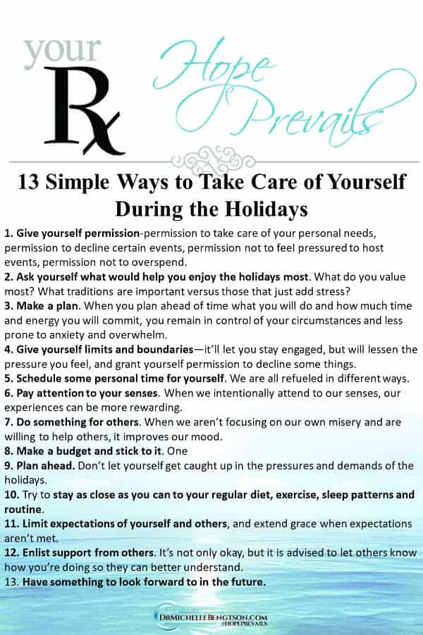 to take care of yourself during the holidays. #selfcare #Christmas #mentalhealth