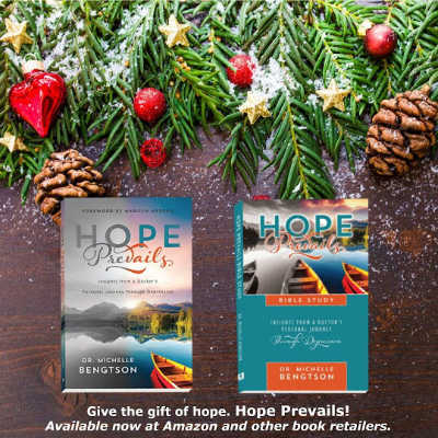 Hope Prevails and Hope Prevails Bible Study make great stocking stuffers! Available now at Amazon!