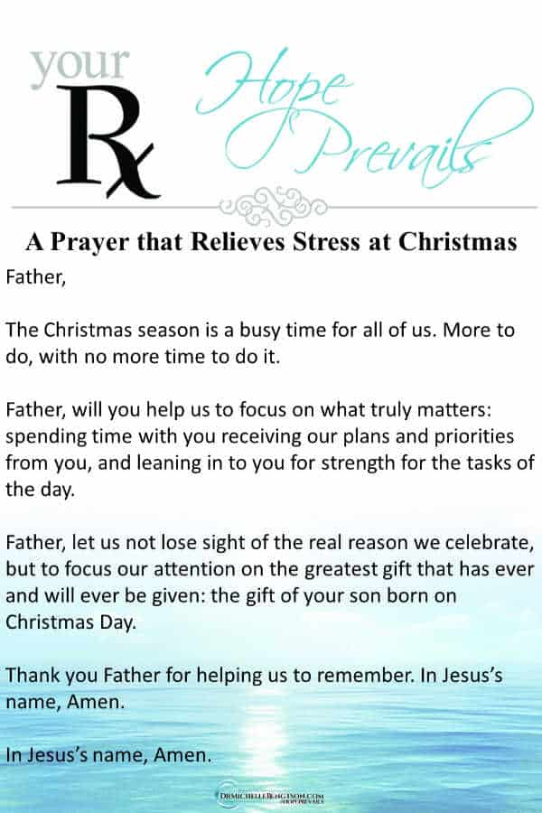 A prayer asking God to help us focus on what truly matters (a great way to relieve stress.) #stress #mentalhealth