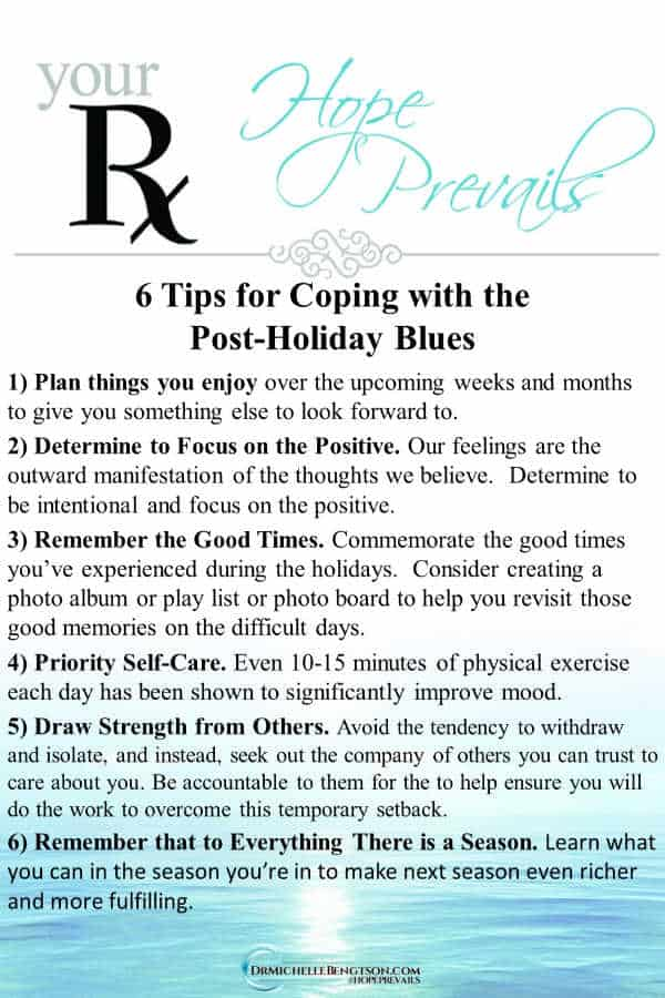 Feeling a sense of the blues after the holidays? Read more for tips on coping with and overcoming the post-holiday blues. #mentalhealth #depression  #winterblues  #postholidayblues