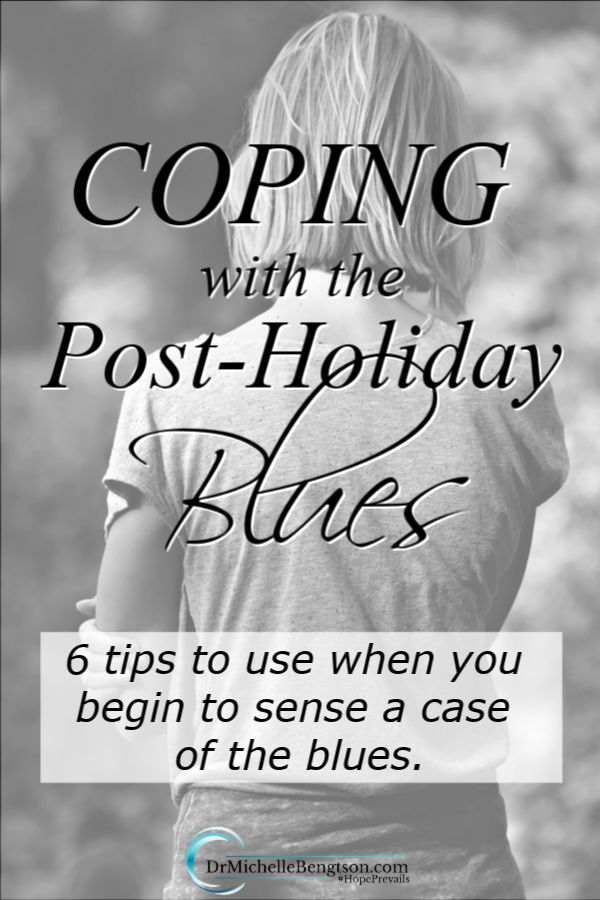 Once routines return to normal after the holidays, we sometimes feel blue. When you begin to sense a case of the blues coming on, try these 6 tips to cope with and overcome the post-holiday blues. #postholidayblues #winterblues #depression #mentalhealth