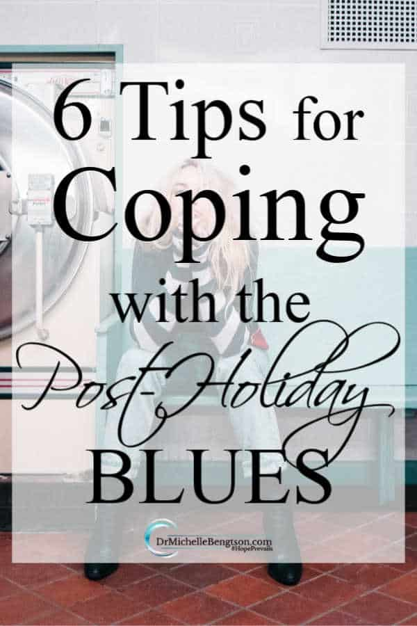 The holidays can be a stressful and painful time for many. Once the routine returns to normal, you may be feeling blue. These 6 tips will help you cope with the post-holiday blues. #mentalhealth