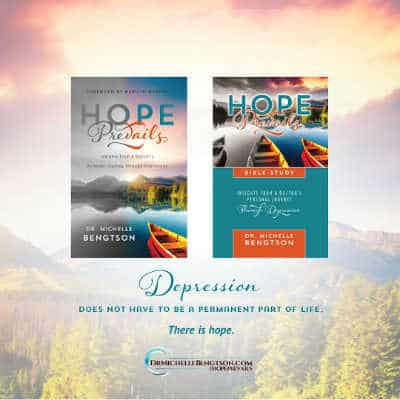 Depression doesn't have to become a permanent part of life. There is hope. Hope Prevails and Hope Prevails Bible Study.