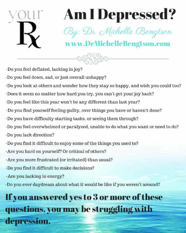 "Questions to think about and ask yourself if you wonder, ""Am I Depressed?"" #mentalhealth"