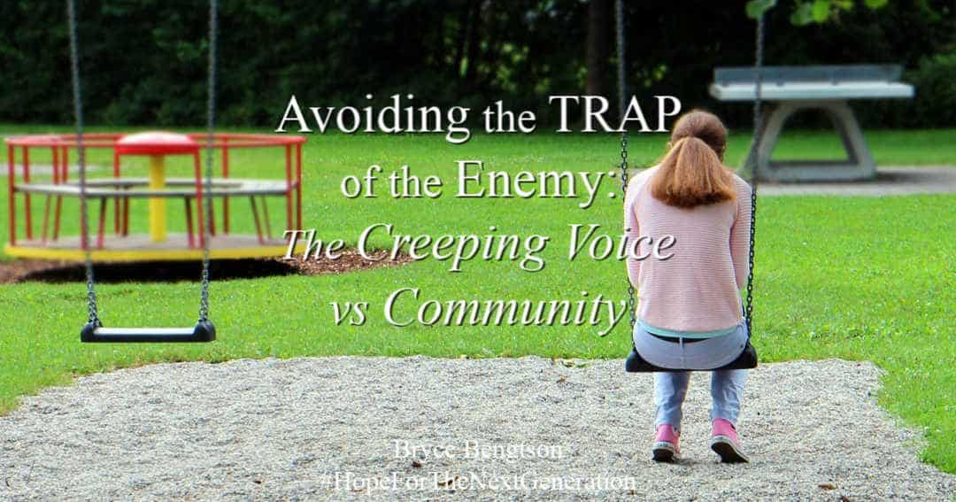 Don't fall for the enemy's creeping voice. Avoid the trap of the enemy!