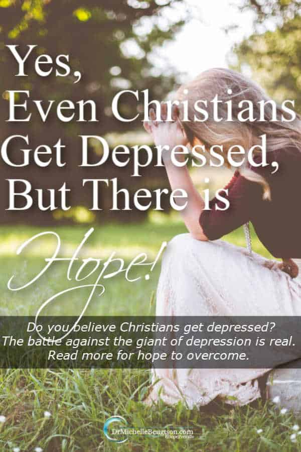 Do you believe Christians get depressed or do you think it's a myth? The battle against the giant of depression is real. Read more for hope to overcome. #mentalhealth