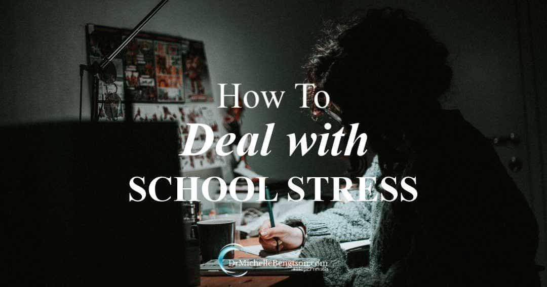 How to deal with school stress when feeling overwhelmed.