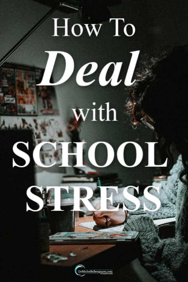 All-nighters. Feeling stressed and overwhelmed. Wondering how to deal with school stress? Read more for how to give it all to God. #encouragement #faith