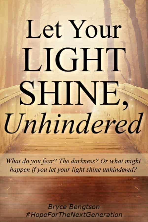 What would happen if you let your light shine unhindered? Can you walk with the Lord and hide your light? Read more for trusting God with the light. #faith #hope #trustingGod