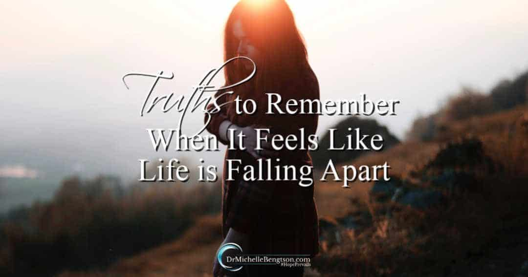 Facing challenges when life feels like it is falling apart.