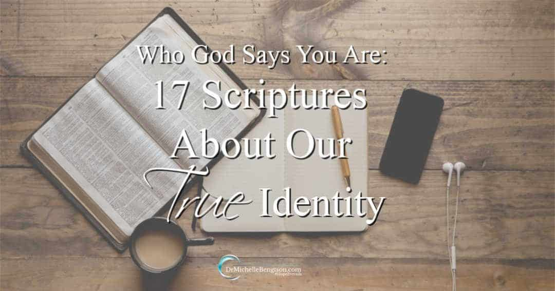 17 scriptures with who God says you are and what God says about you. Read more and save a copy to refer to later.