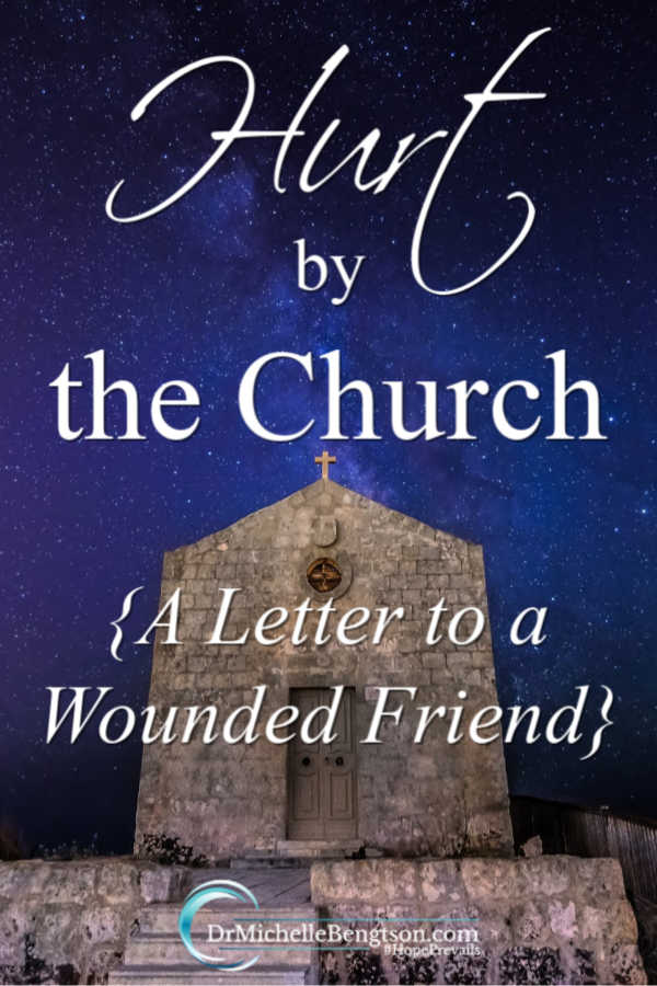 Have you ever been hurt by the church? I know the pain because I've been hurt before. Working through hurts and disagreements is hard. Read more for my letter to a wounded friend. #Christianity #faith