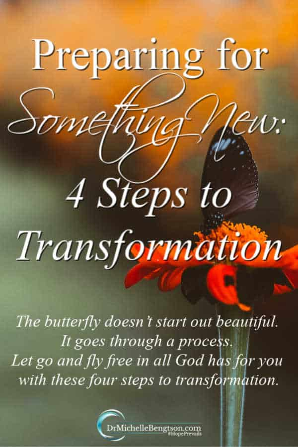 Have you ever felt unsure of where you fit, what your purpose was, or if you'd ever live up to your calling? I have. In these four steps to transformation, I let go of the old and embraced the new. #faith #HopePrevails