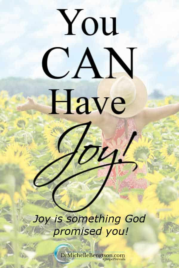 "At one point in my life, I thought I was joy-immune. Now that I'm on the other side of that time in my life, I frequently have people comment that, ""You're just so full of joy."" You can have joy! Read more for how. #faith #encouragement #joy"