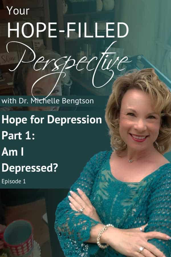 "Dr. Michelle Bengtson helps listeners asking the question, ""Am I Depressed?"" determine if they may be suffering with depression. Click for common signs and symptoms of depression. There is HOPE."