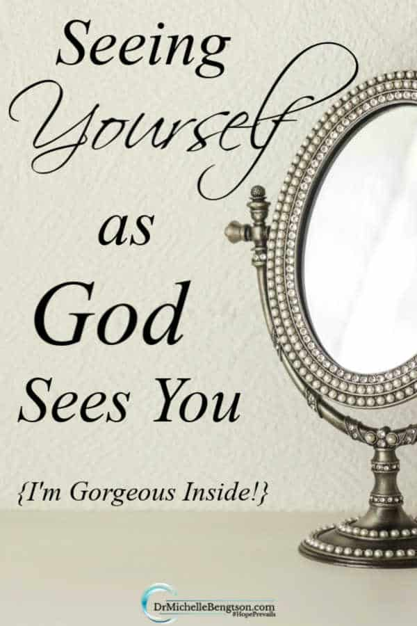When you look at your reflection, what do you see? Beauty is more than skin deep. Seeing yourself as God sees you means you look past the flaws into the interior beauty of the heart. Read more for how God sees you. Click here for more on your True Identity.