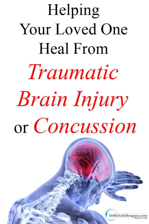 What is a traumatic brain injury or concussion? What are the symptoms? How does it heal? And, how can a family help their loved one in the healing process. Read more for 11 ways to help when a loved one or friend suffers a traumatic brain injury or concussion. #mentalhealth