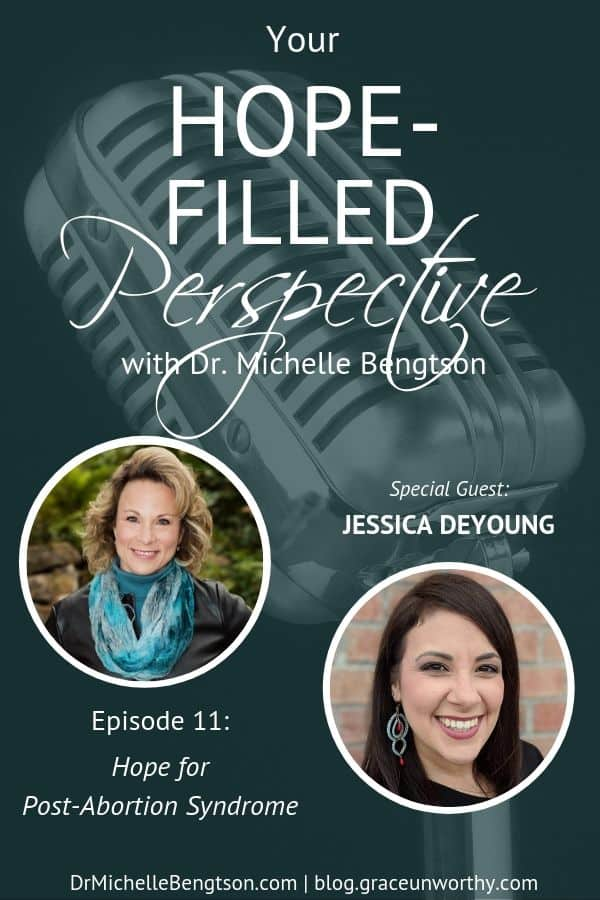 Statistics suggest that one in three women will have an abortion. In this episode, JessicaDeYoung shares from her experience with having an abortion and how she healed from post-abortion syndrome.