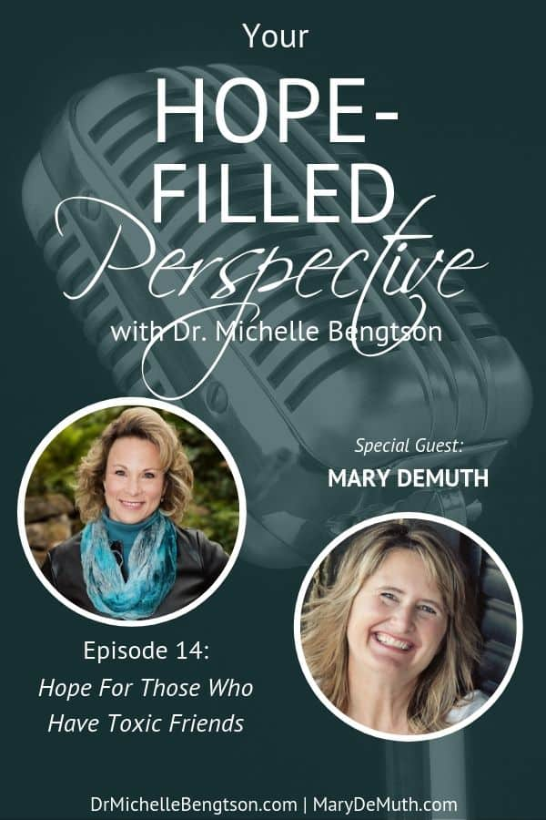 Have you ever struggled with or suffered because of toxic friends? Toxic friendships happen to everyone. Mary DeMuth helps us identify the underlying issues in toxic relationships and points us to seven practices to help us receive and extend healthy friendships.