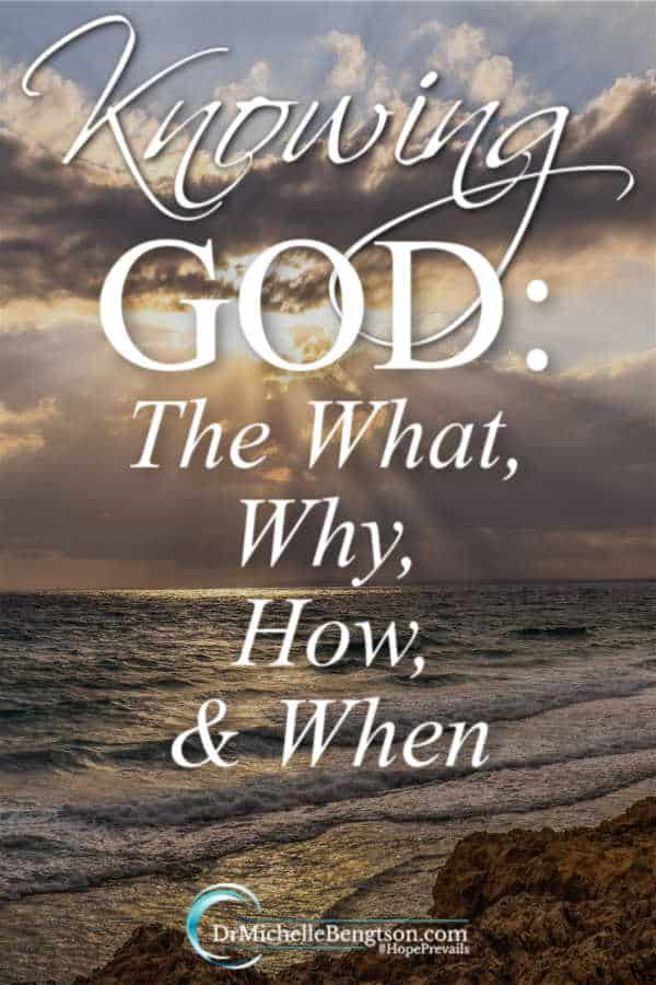 Do you know God? Are you known by God? Knowing God is the ultimate relationship. Knowing Him can be scary. But, not knowing Him can be scary and lonely. Read more for the what, why, how and when of knowing God. #faith #salvation