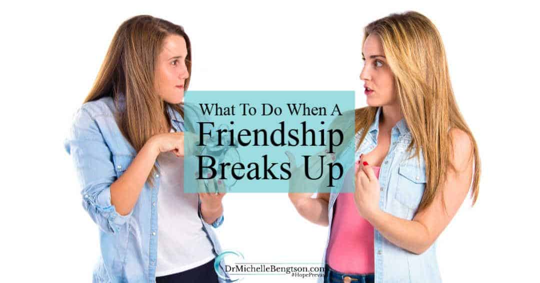 We never talk about what to do when a friendship breaks up.