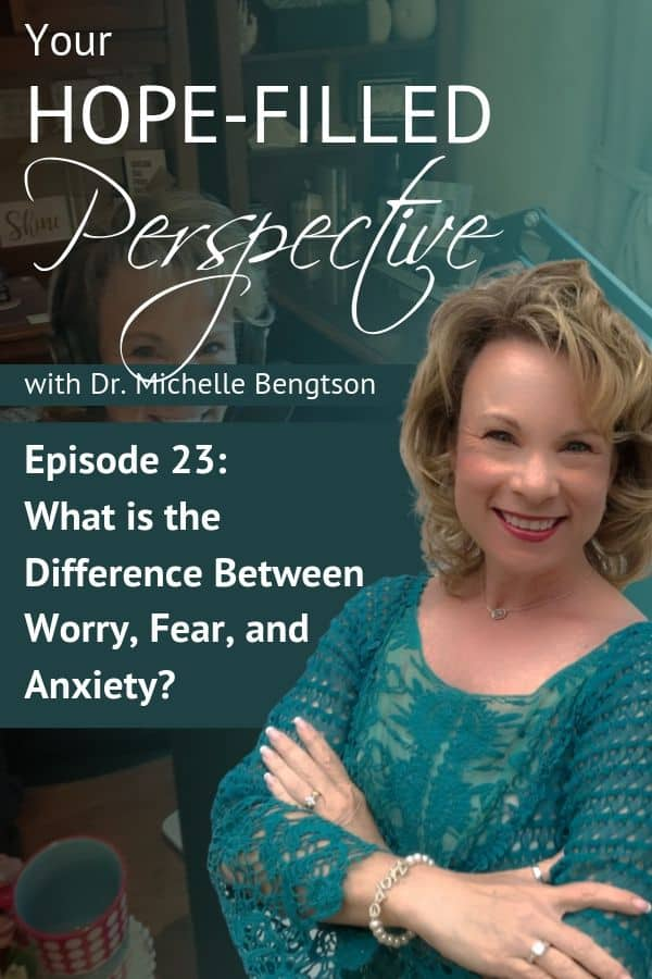 Learn the differences between worry, fear, and anxiety, where they originate from, and what their true cause is. If you've ever struggled with worry, fear or anxiety, you won't want to miss this episode! #fear #mentalhealth