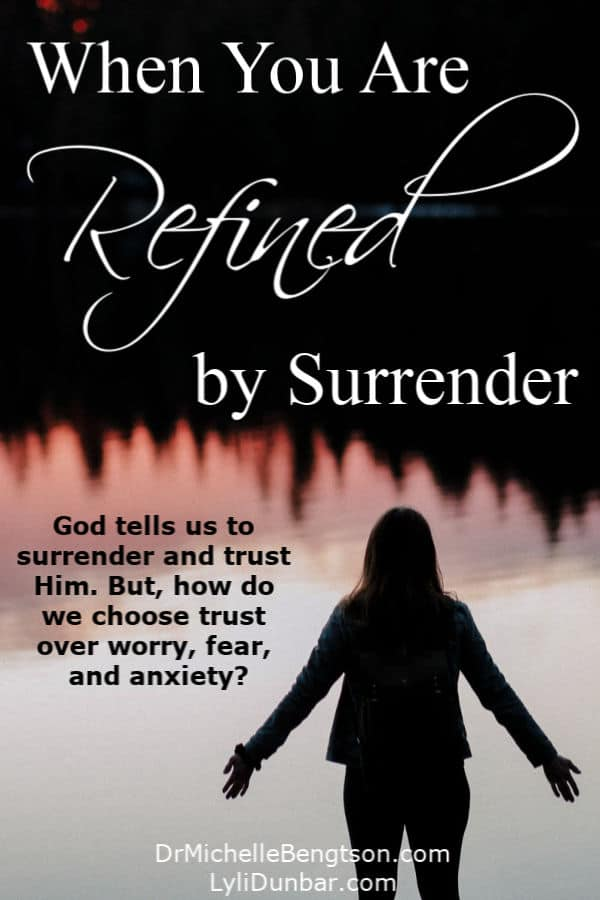 Somehow during life's most tumultuous times we can forget God's simple commands and His promise of provision. God tells us to surrender and trust Him. But, how do we choose trust over worry, fear, and anxiety? #anxiety #mentalhealth