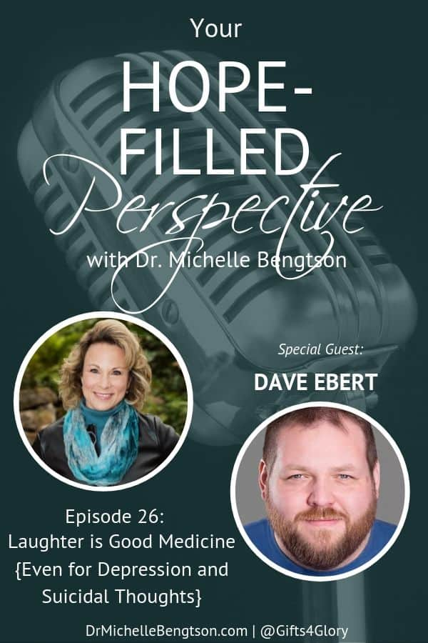 If you or someone you love have ever struggled with depression and suicidal thoughts and wondered if there is help and hope, this is the perfect episode for you to listen to as we explore with Dave Ebert how laughter is good medicine. #mentalhealth #depression