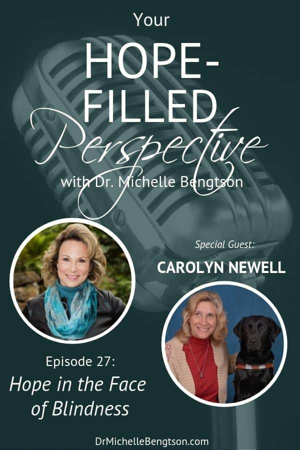 In this episode, we talk with Carolyn Newell about living with blindness and why she calls blindness a gift from God. She shares about her experiences as a blind person, including suffering depression, and how she found hope. #blind #disability